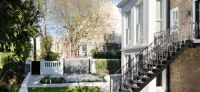 Garden in Notting Hill, London. #J32 Landscape Detail Design for a private garden in a historic listed house  in Notting Hill London